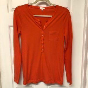 J.Crew - Orange 3/4 Sleeve Shirt